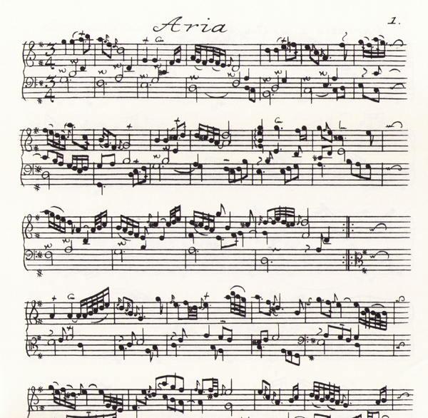 Bach  Clavier Übung 4e partie (Variations Goldberg), 1741  Facsimile