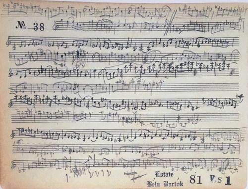 Bartók, Sonata for Violin Solo Sz 117 Facsimile / Sonate für