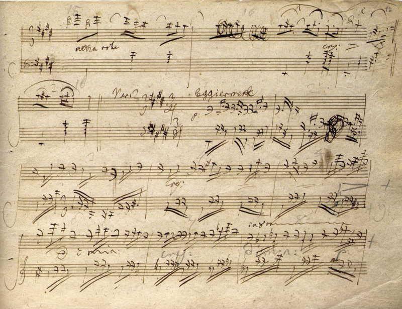 beethoven  piano sonata op 109 in e major  facsimile
