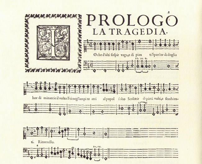 Peri. Le musiche sopra l'Euridice. Facsimile